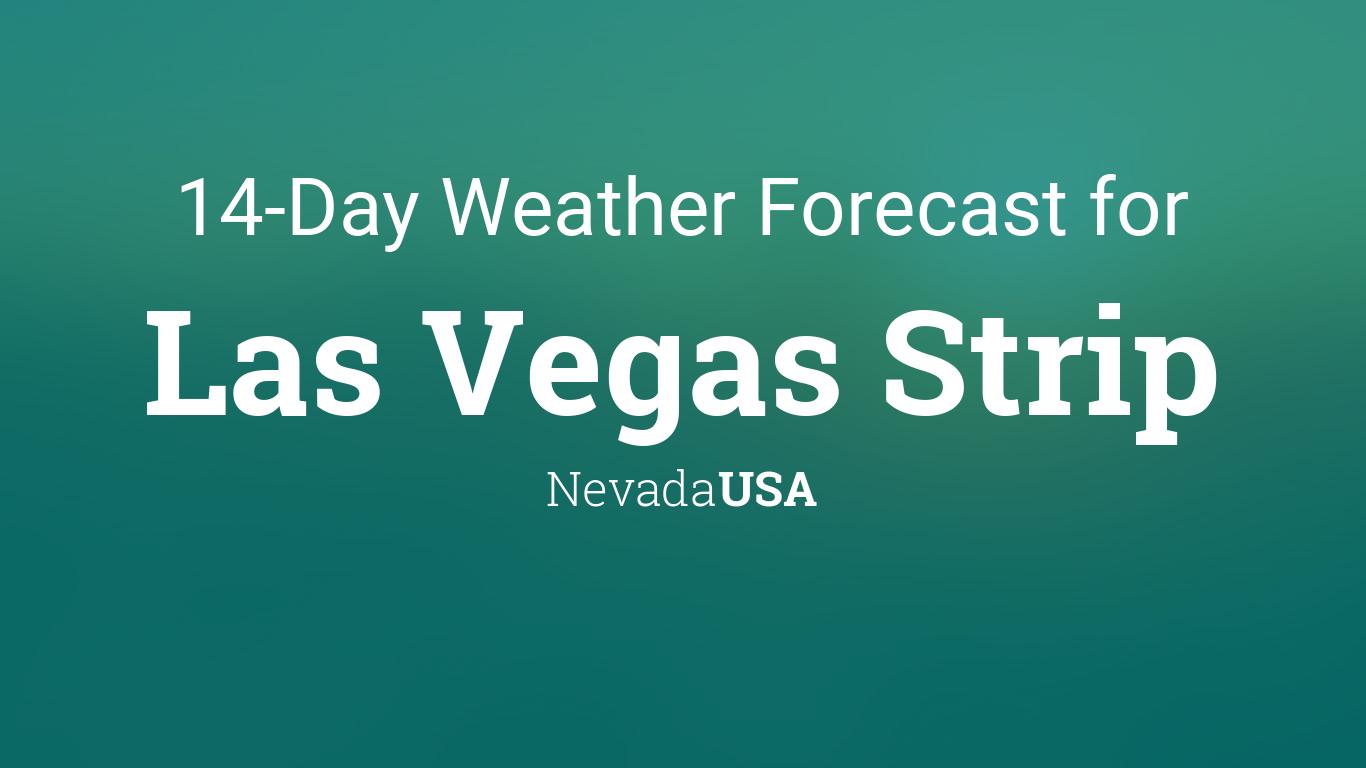 Las Vegas Strip, Nevada, USA 14 day weather forecast
