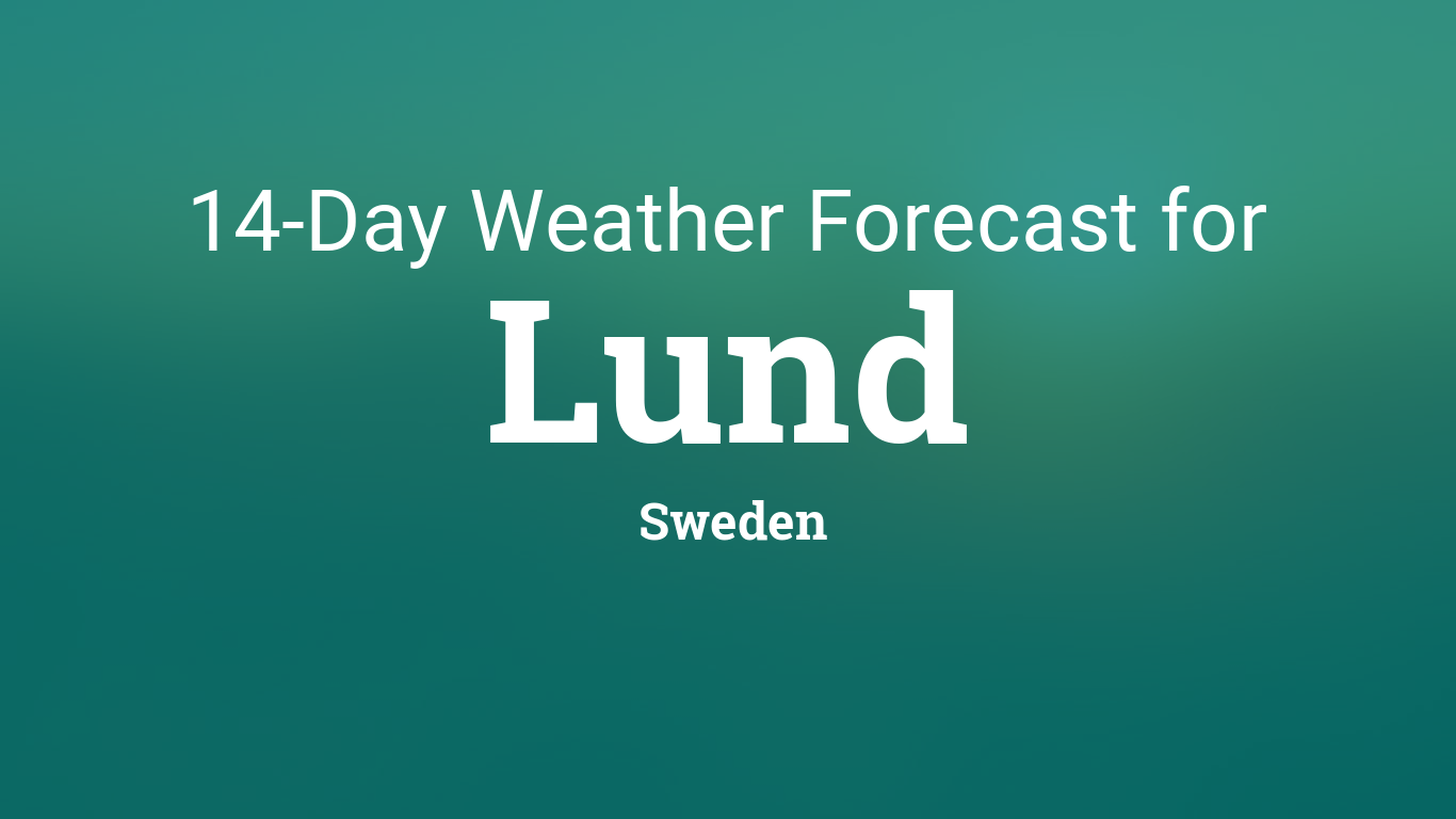 Ultramoderne Lund, Sweden 14 day weather forecast XE-79