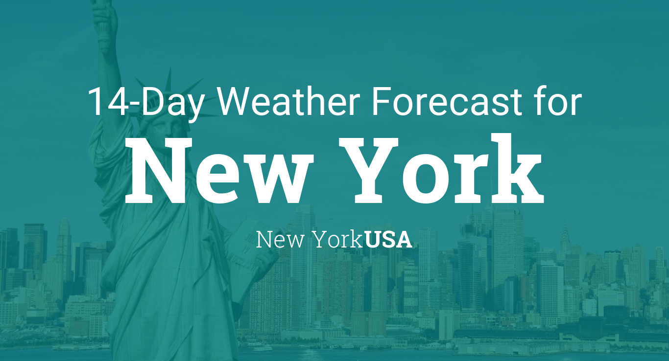 new york new york usa 14 day weather forecast