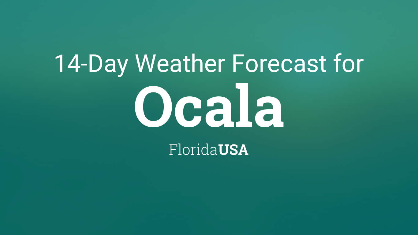 Weather for ocala fl