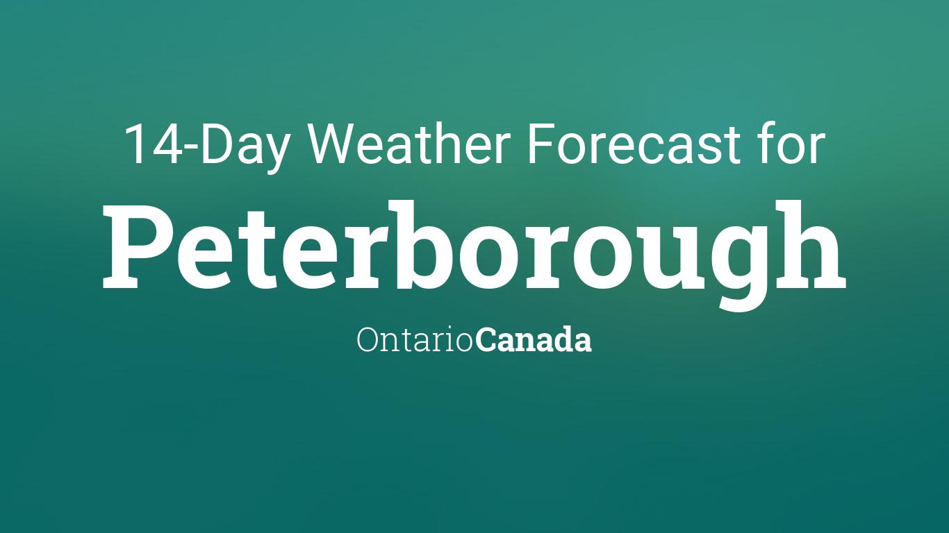 peterborough ontario weather 14 day