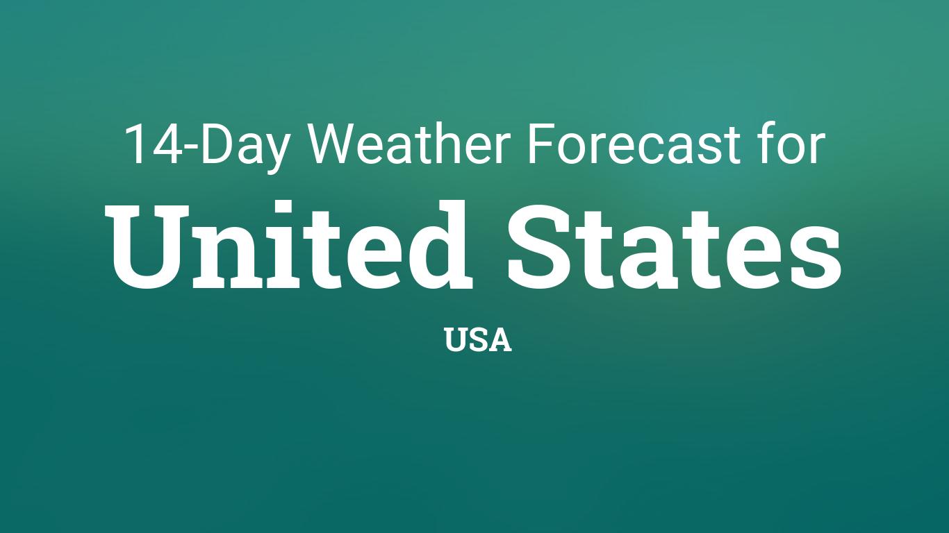 United States, USA 14 day weather forecast