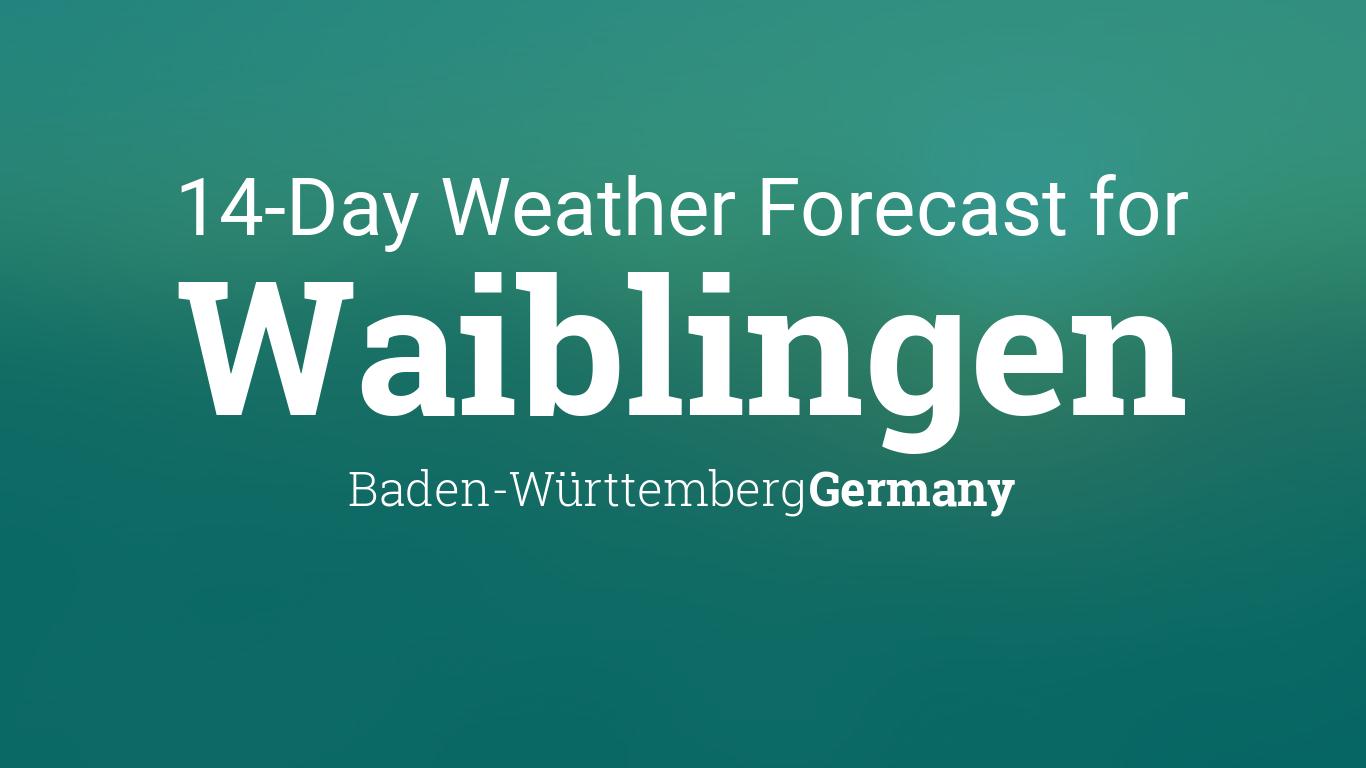 Waiblingen, Baden Württemberg, Germany 20 day weather forecast