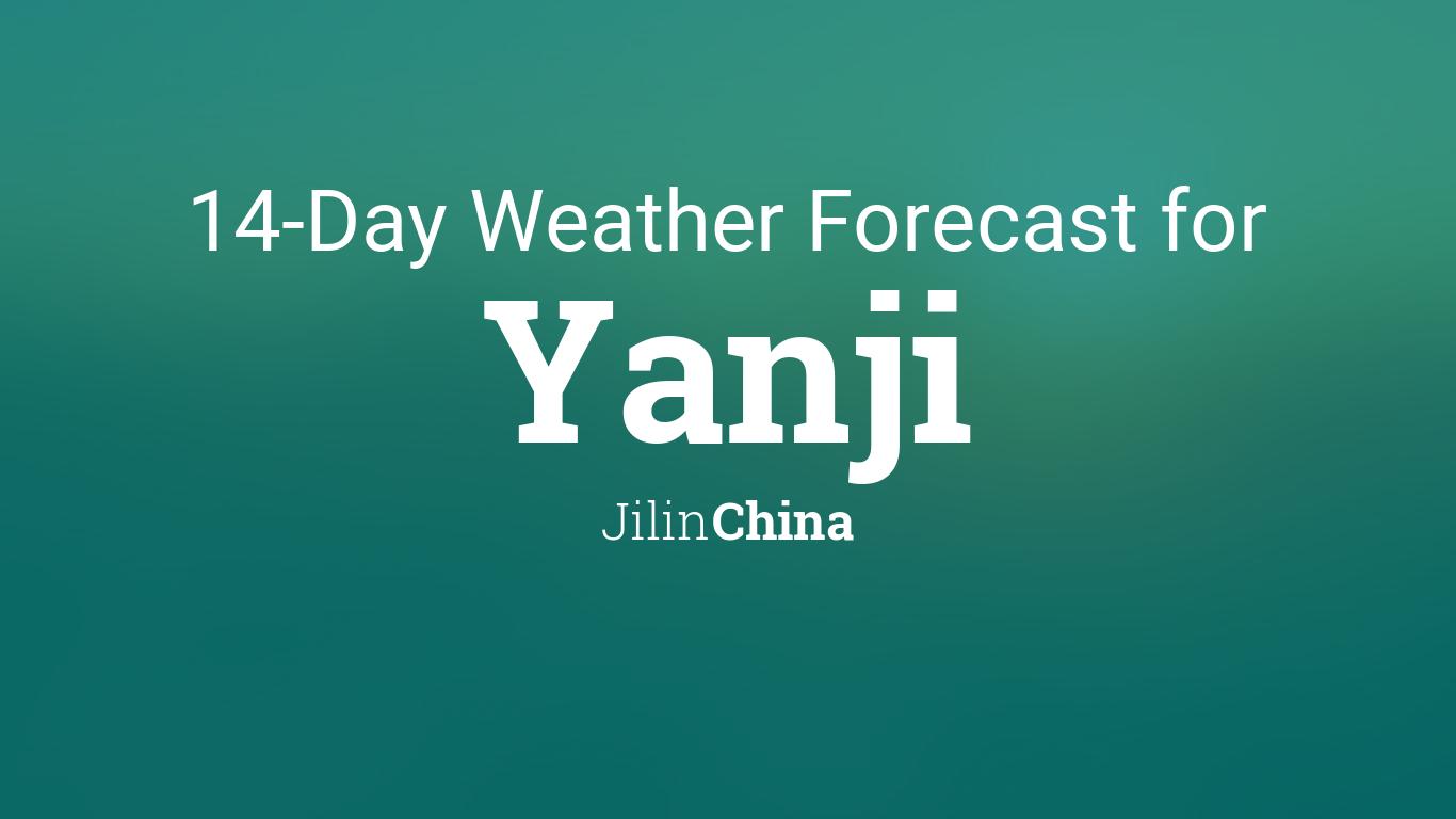 Yanji, Jilin, China 14 day weather forecast