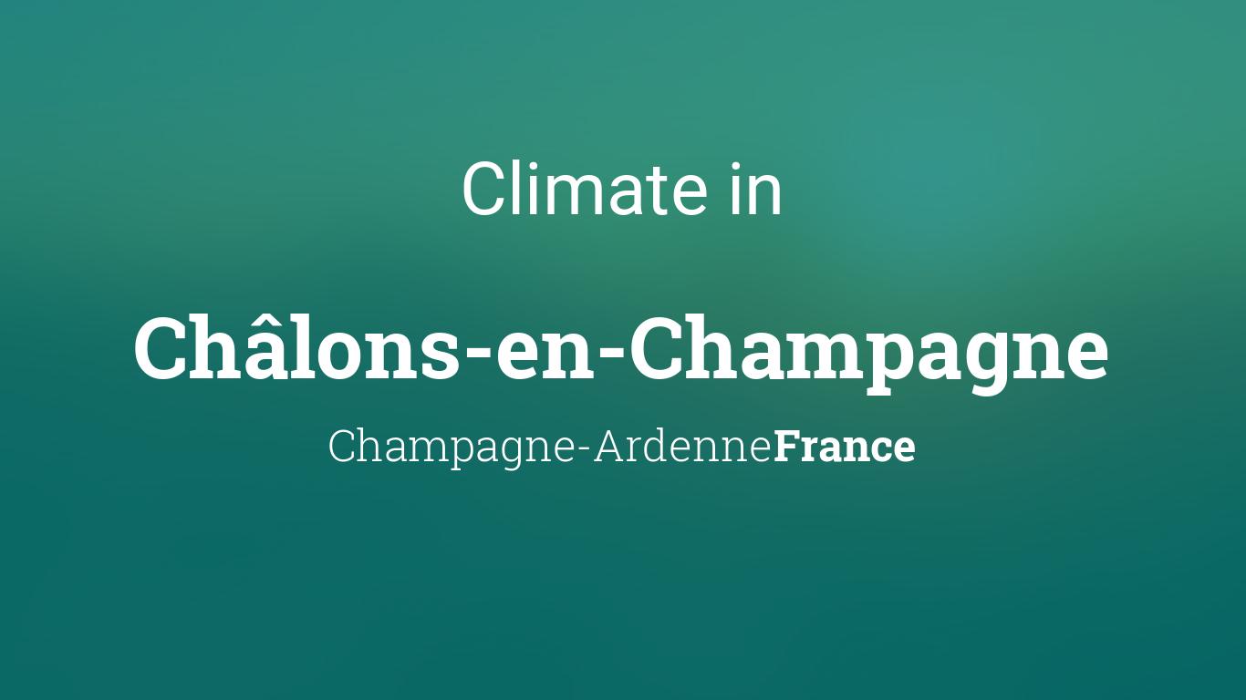 climate weather averages in ch lons en champagne champagne ardenne france. Black Bedroom Furniture Sets. Home Design Ideas