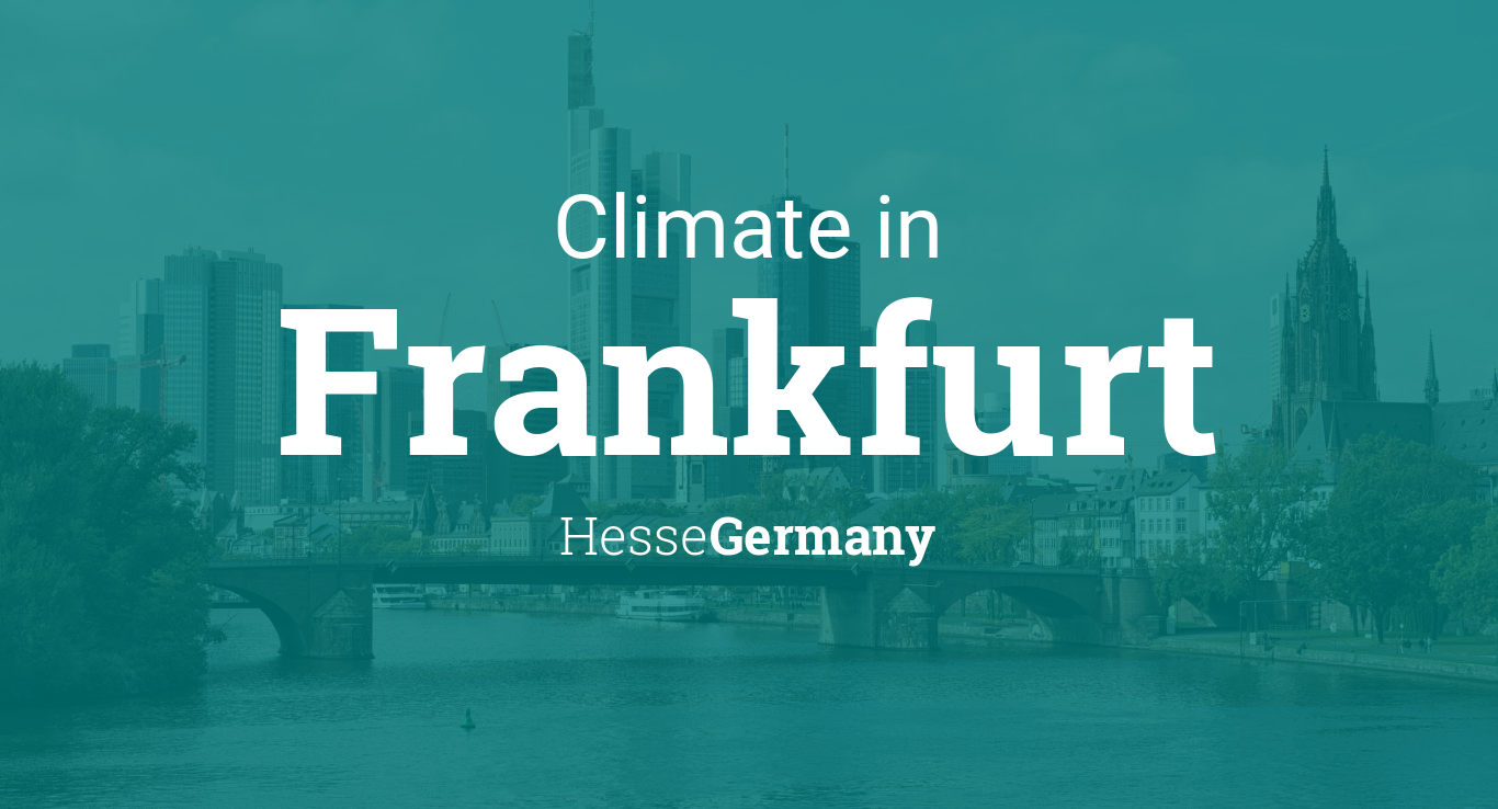 Climate Weather Averages In Frankfurt Hesse Germany