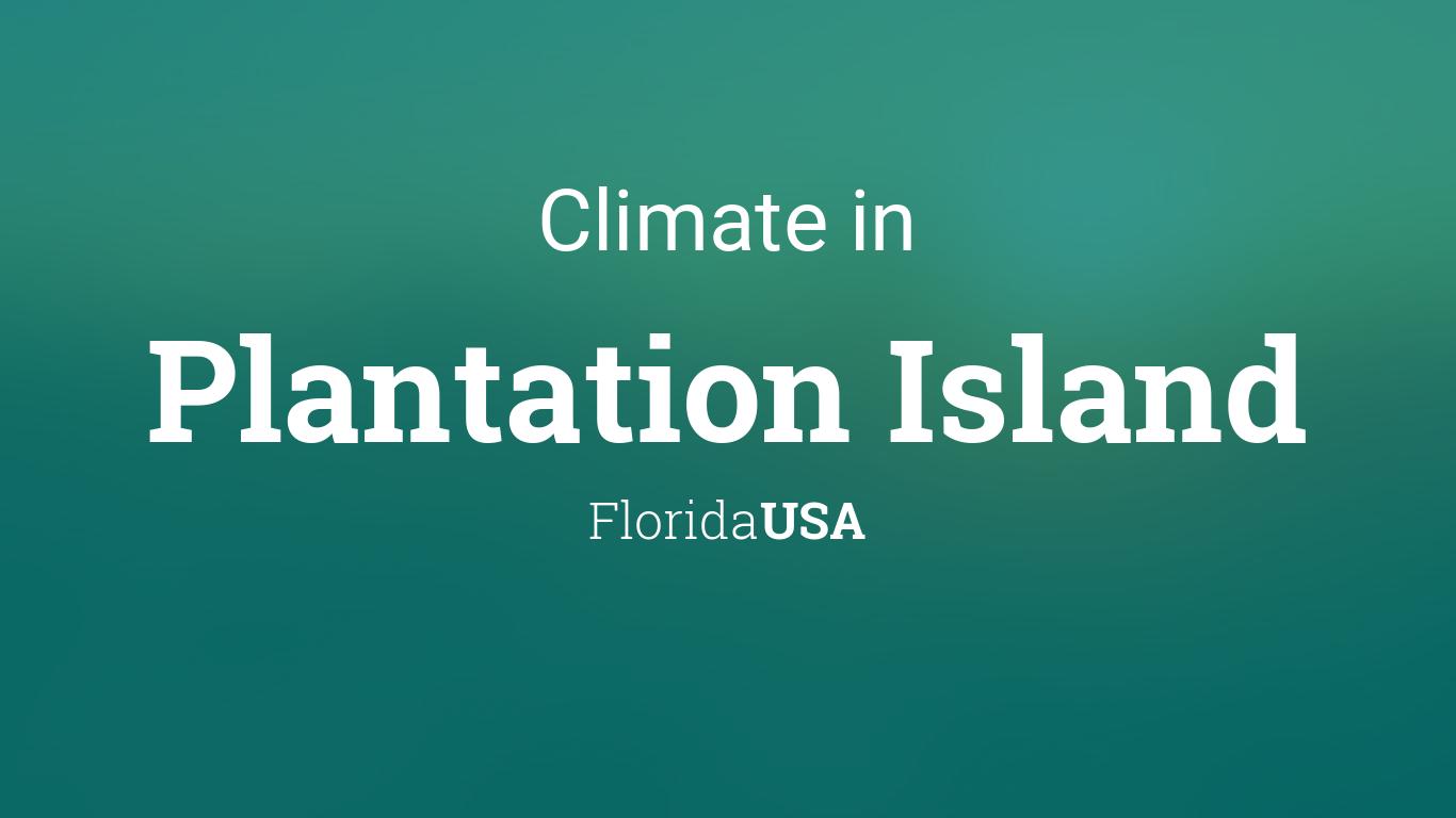 Climate & Weather Averages in Plantation Island, Florida, USA