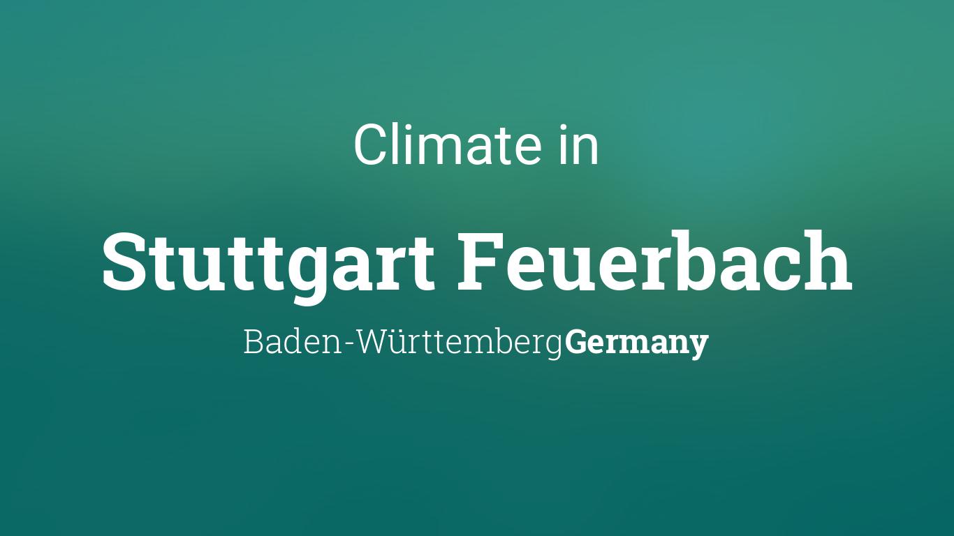 Climate & Weather Averages in Stuttgart Feuerbach, Baden ...