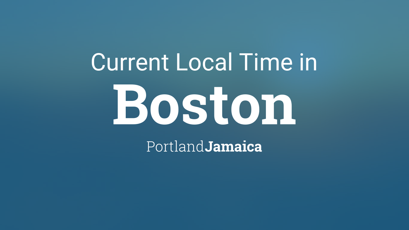 Local Time In Boston