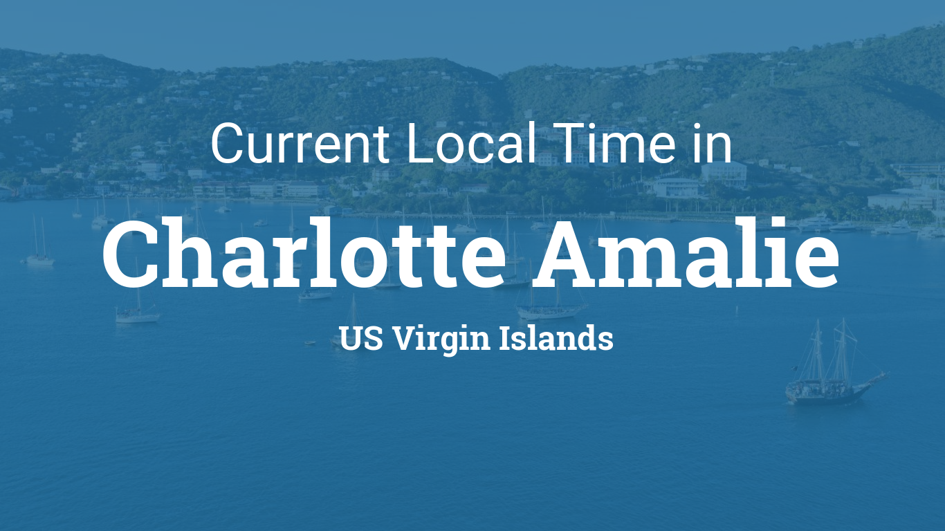 Current Local Time In Charlotte Amalie US Virgin Islands - Map location of us virgin islands