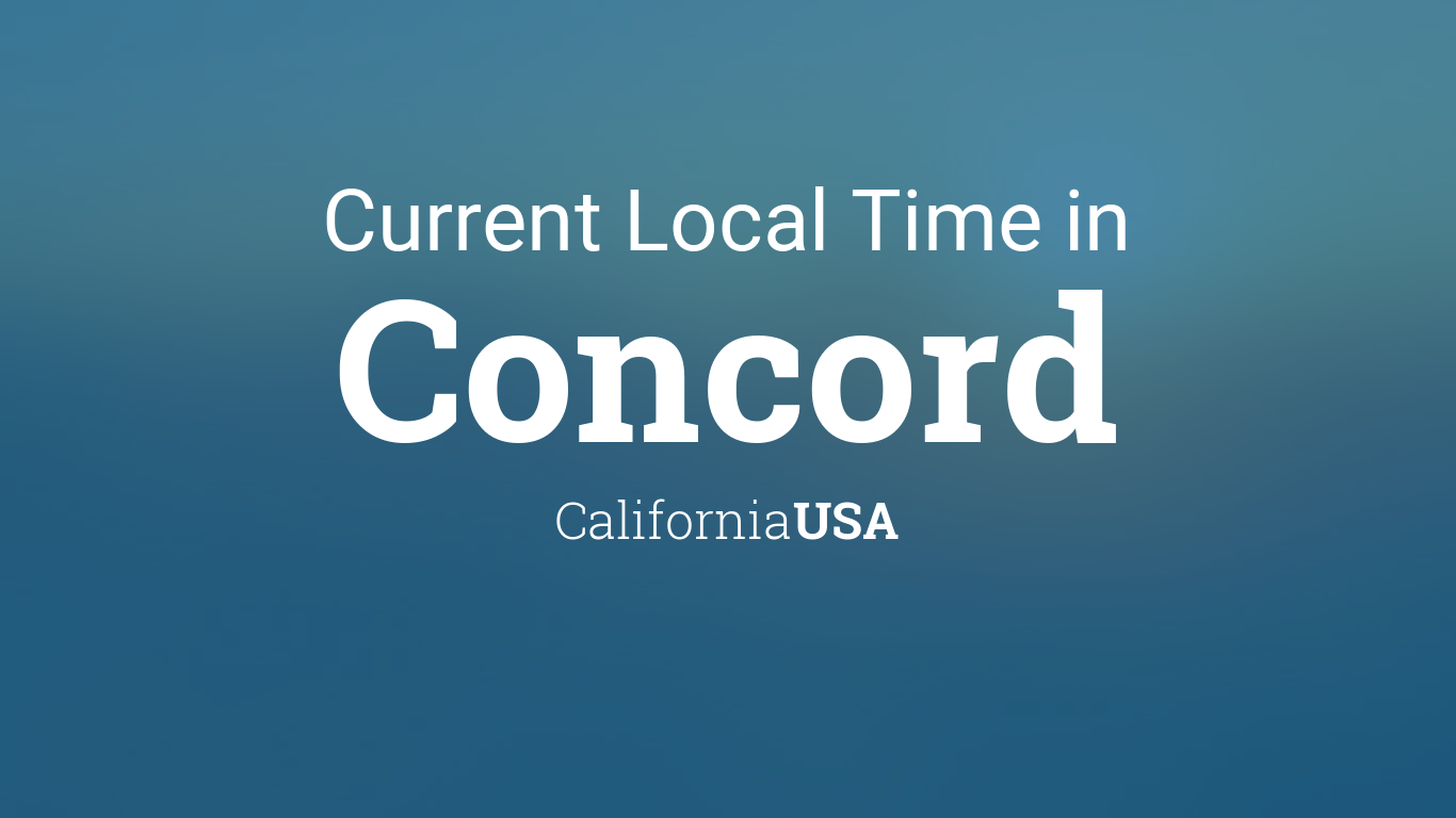 Current Local Time In Concord California USA - Concord usa map