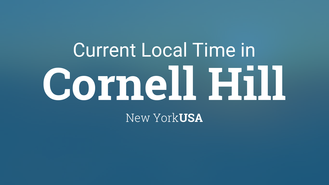 Cornell 2022 Calendar.Current Local Time In Cornell Hill New York Usa