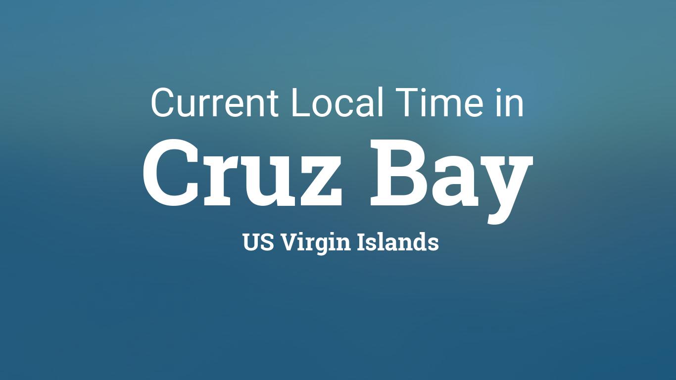 Current Local Time In Cruz Bay Us Virgin Islands - Us-virgin-islands-time-zone-map