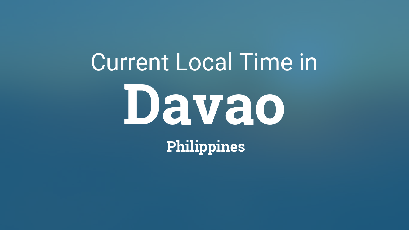 davao time and date