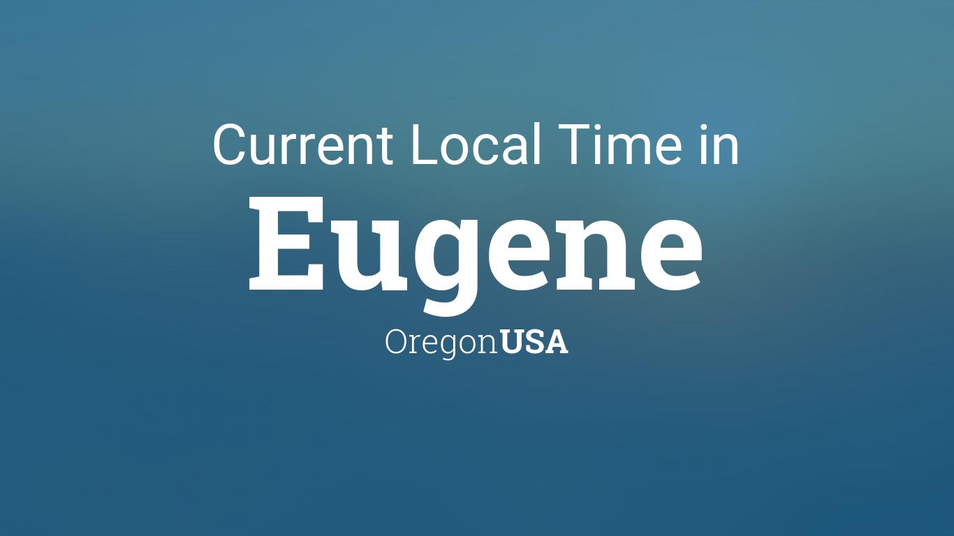 time in eugene oregon