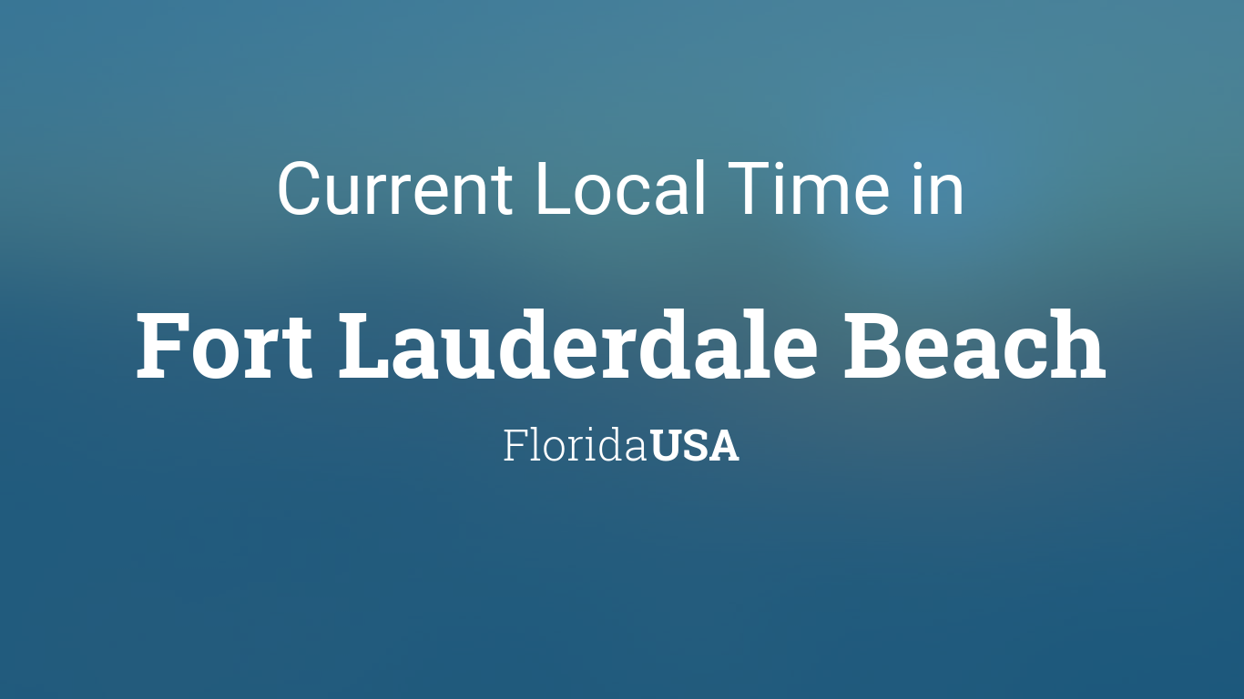 time in fort lauderdale
