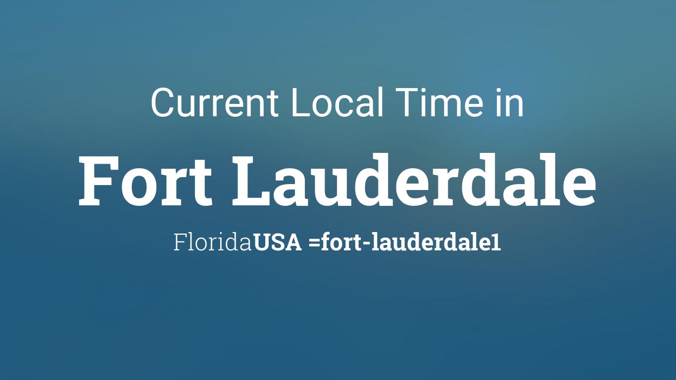 current local time in fort lauderdale florida usa. Black Bedroom Furniture Sets. Home Design Ideas