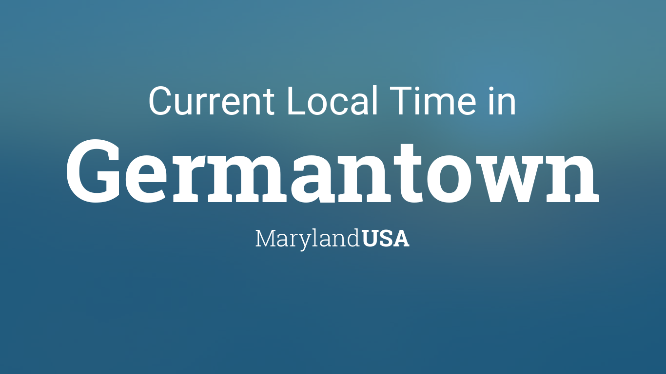 Current Local Time In Germantown Maryland USA - Area code 301 in usa
