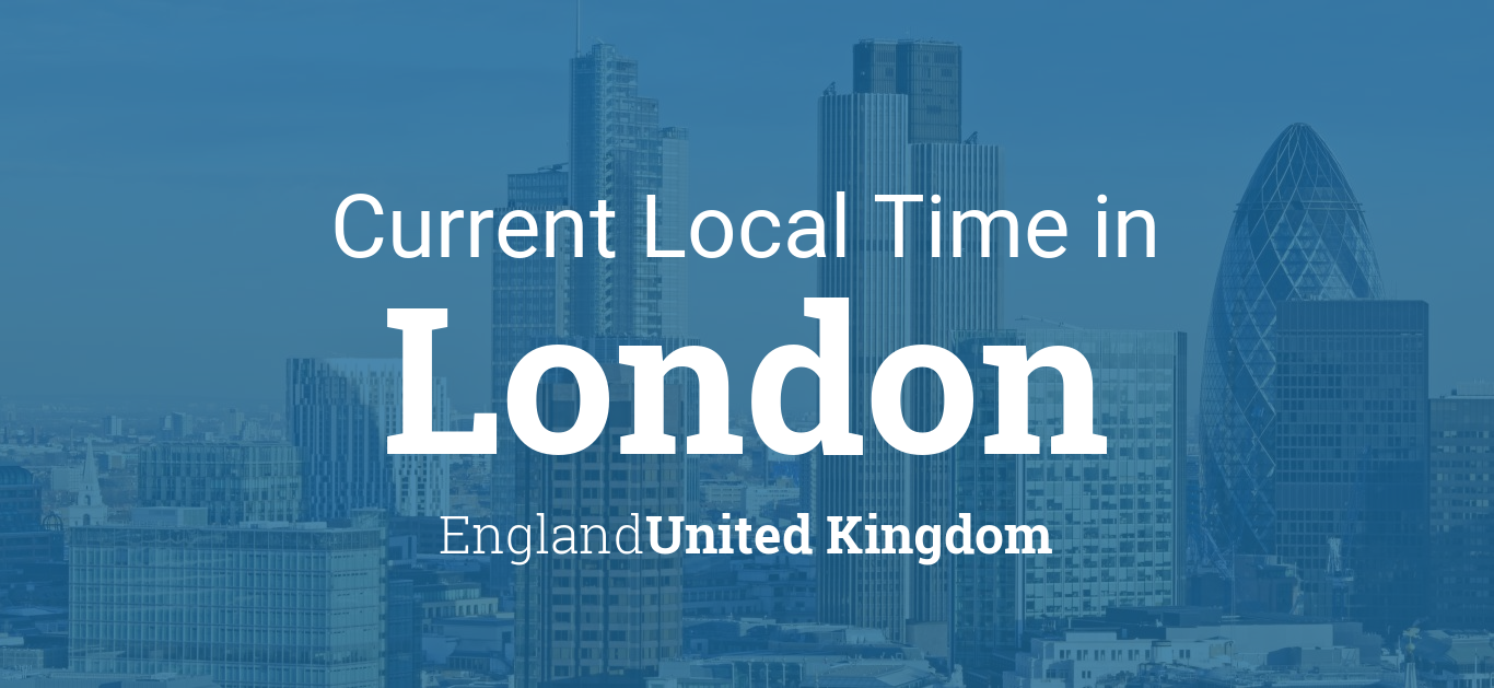 Map Of England Time Zones.Current Local Time In London England United Kingdom