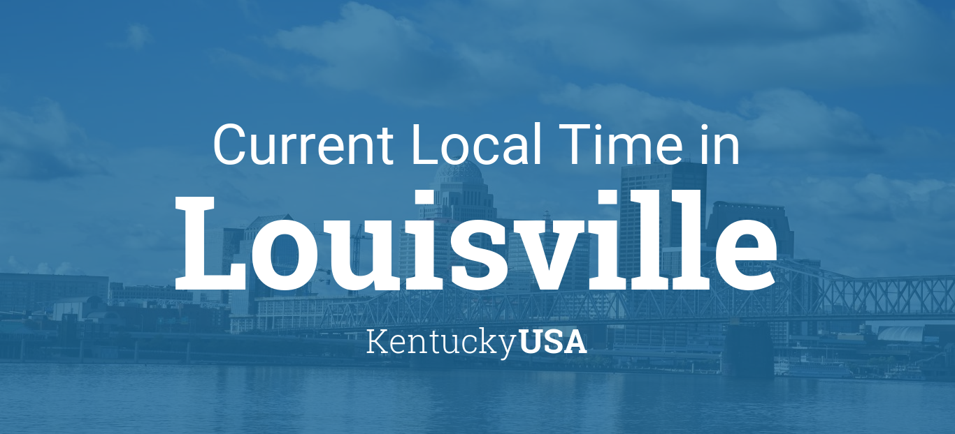 Louisville ky time zone map