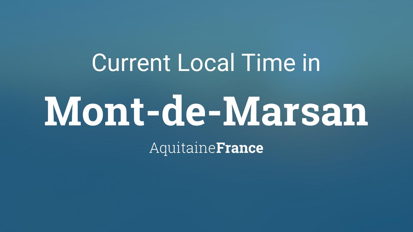 Current local time in mont de marsan aquitaine france for Mont de marsan anglet