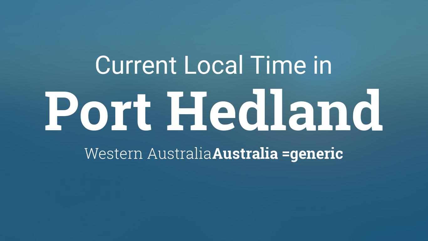 current local time in port hedland western australia australia. Black Bedroom Furniture Sets. Home Design Ideas