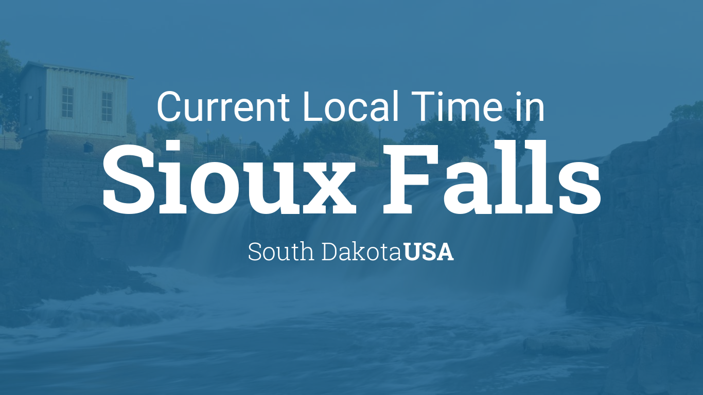 Current Local Time In Sioux Falls South Dakota USA - Us time zone map south dakota
