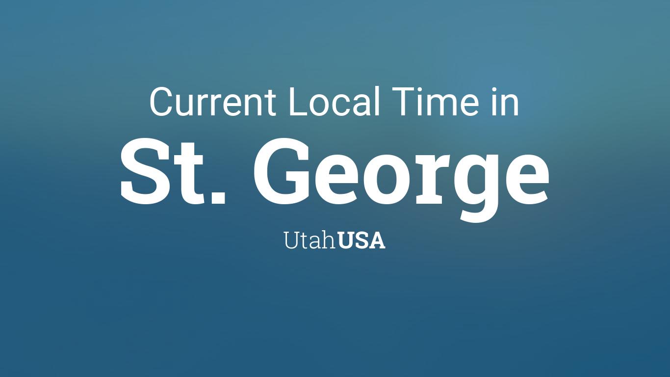 Current Local Time In St George Utah USA - Usa zip code utah
