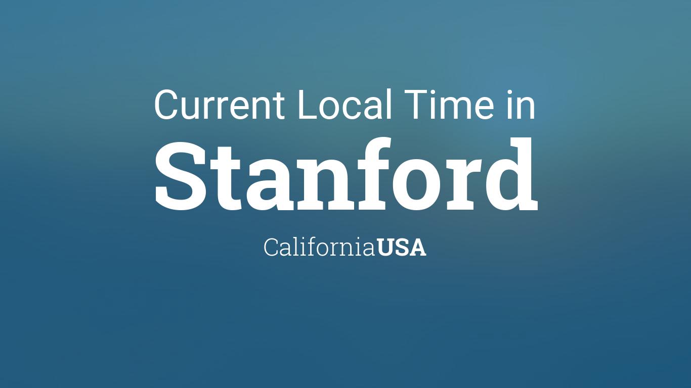 Stanford Calendar 2022.Current Local Time In Stanford California Usa