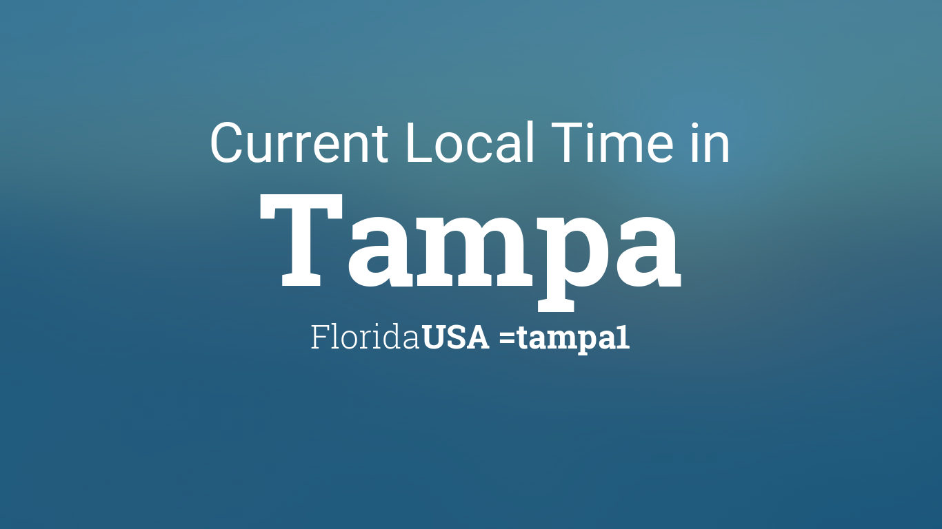 current local time in tampa florida usa. Black Bedroom Furniture Sets. Home Design Ideas