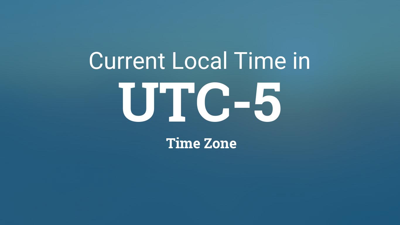 Current UTC-5