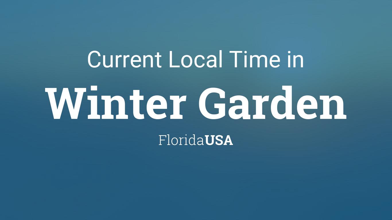 current local time in winter garden florida usa. Black Bedroom Furniture Sets. Home Design Ideas
