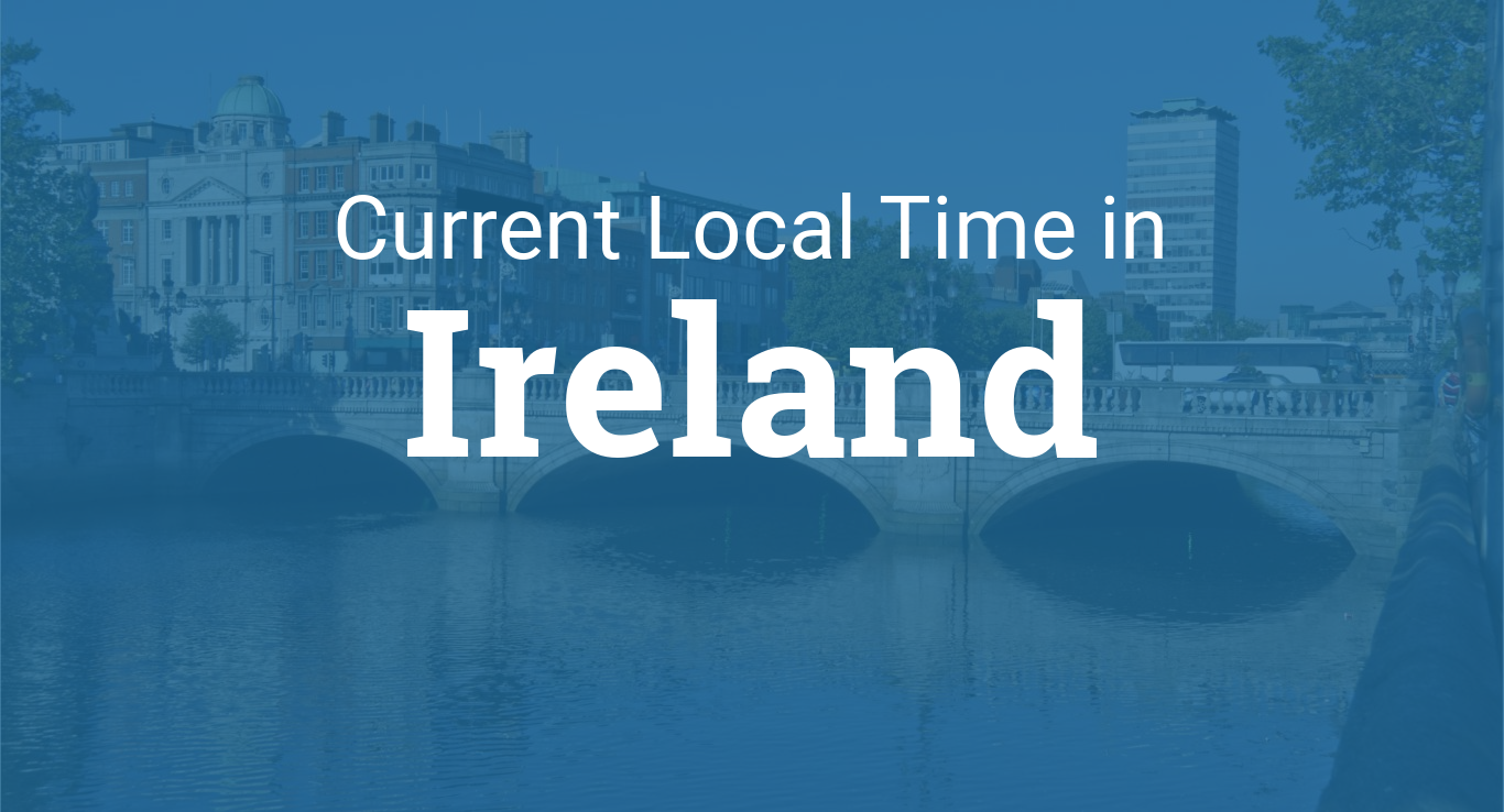Map Of Ireland Time Zones.Time In Ireland