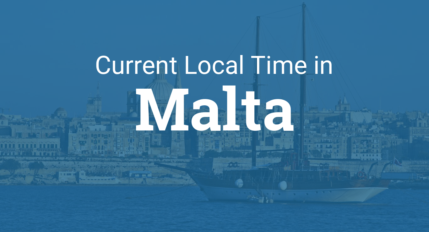 Google Monthly Calendar : Current local time in malta