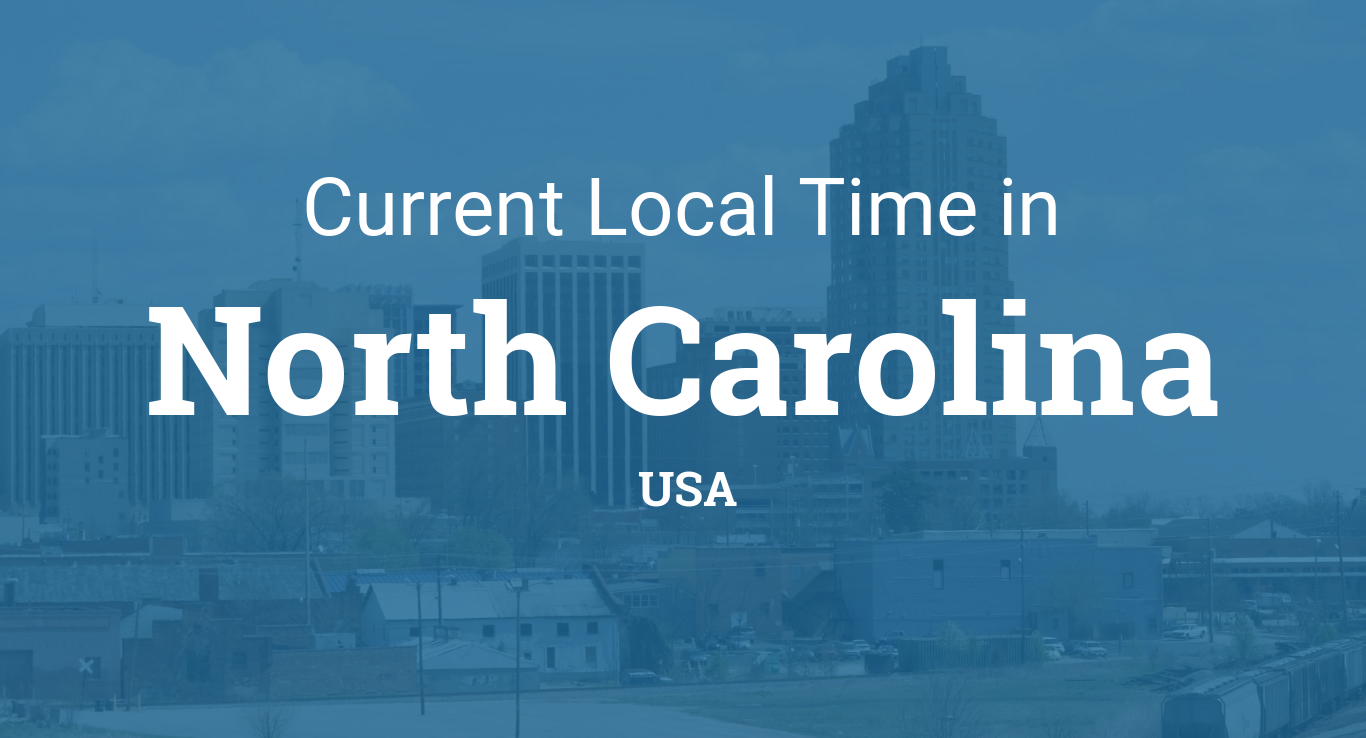 Time in North Carolina, United States