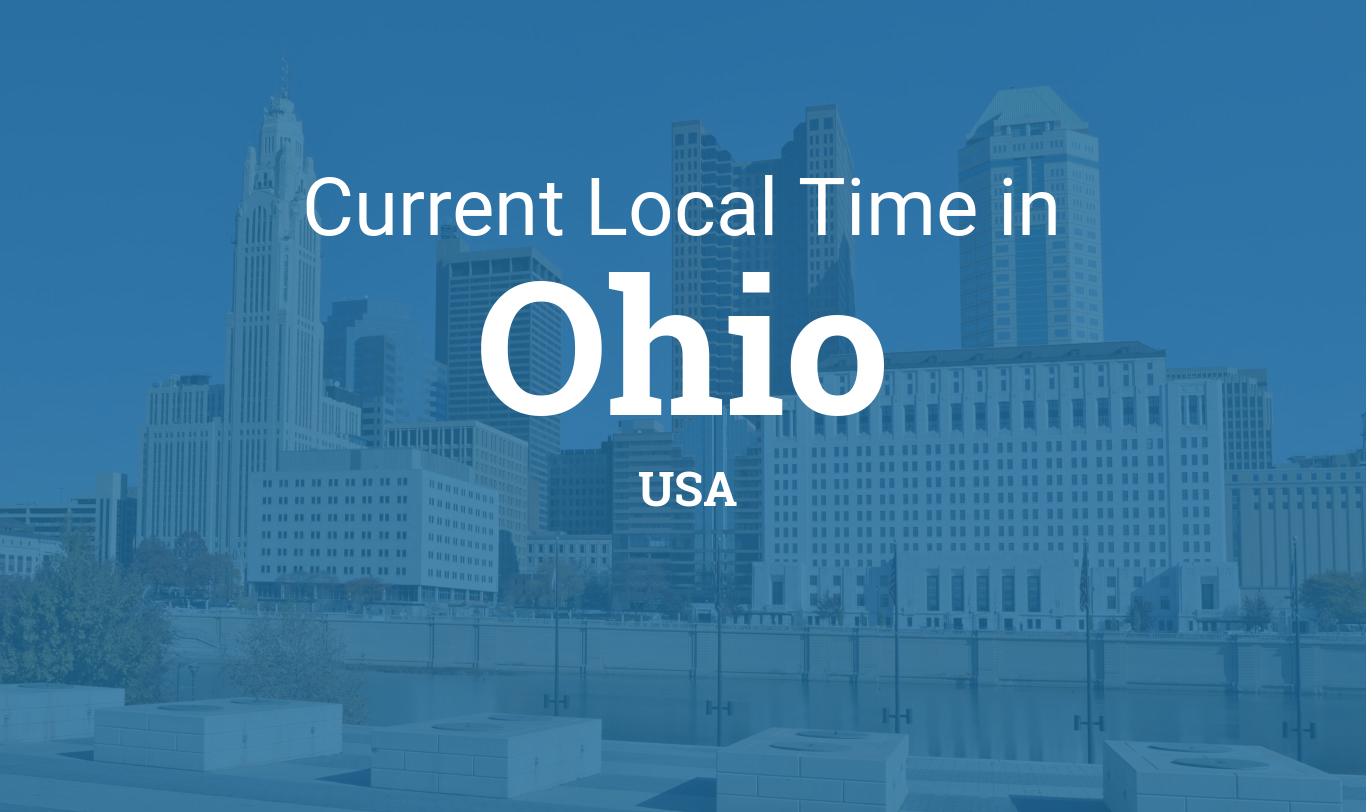 toledo ohio time zone map Time In Ohio United States