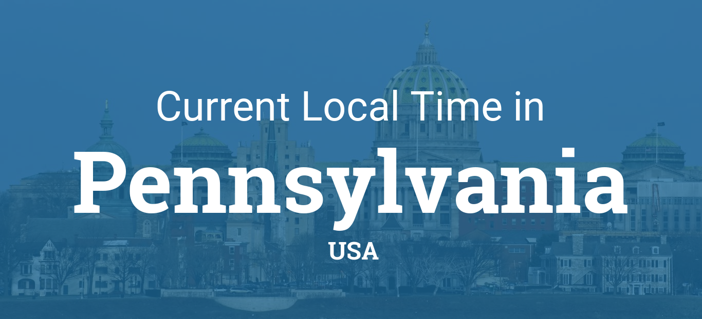 Time in Pennsylvania, United States
