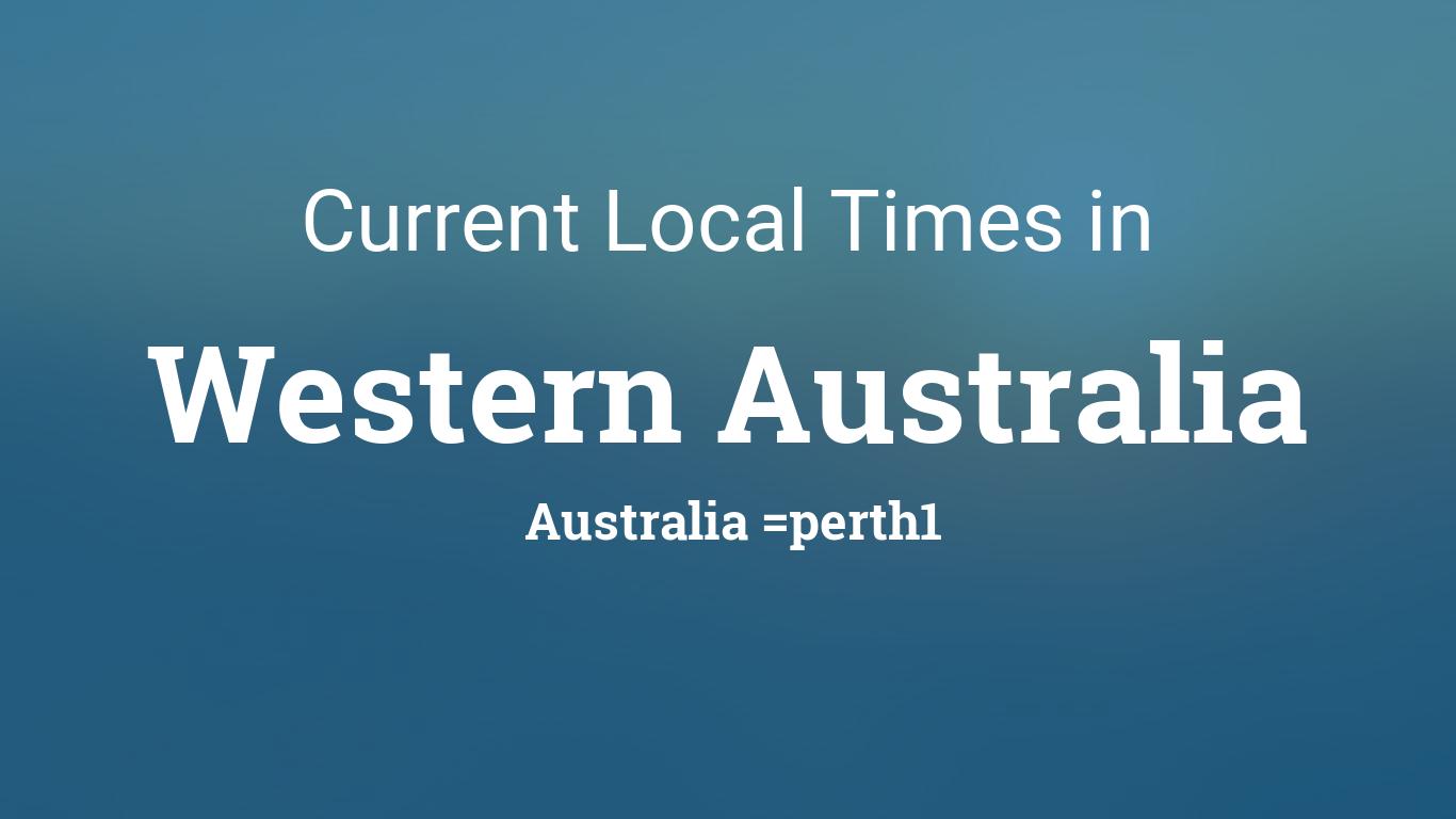 current local time in western australia australia. Black Bedroom Furniture Sets. Home Design Ideas
