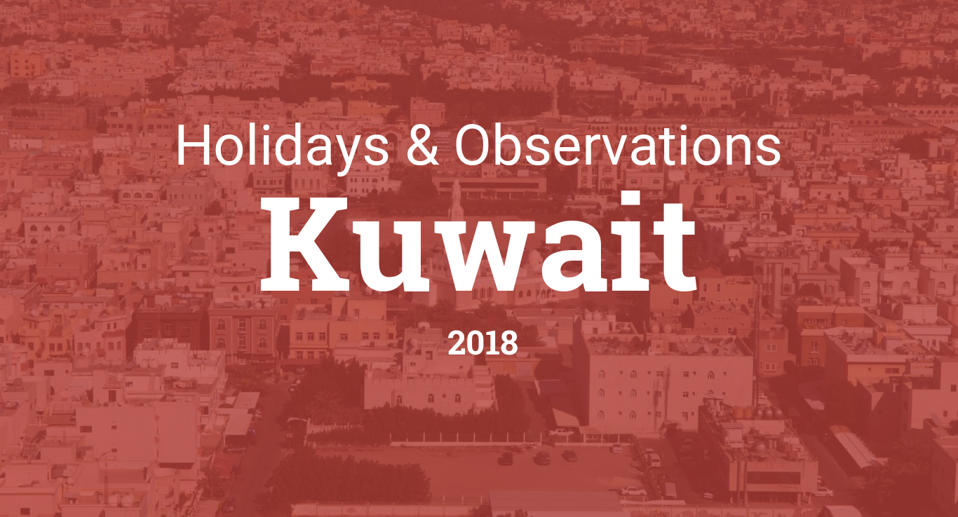 Holidays and observances in Kuwait in 2018