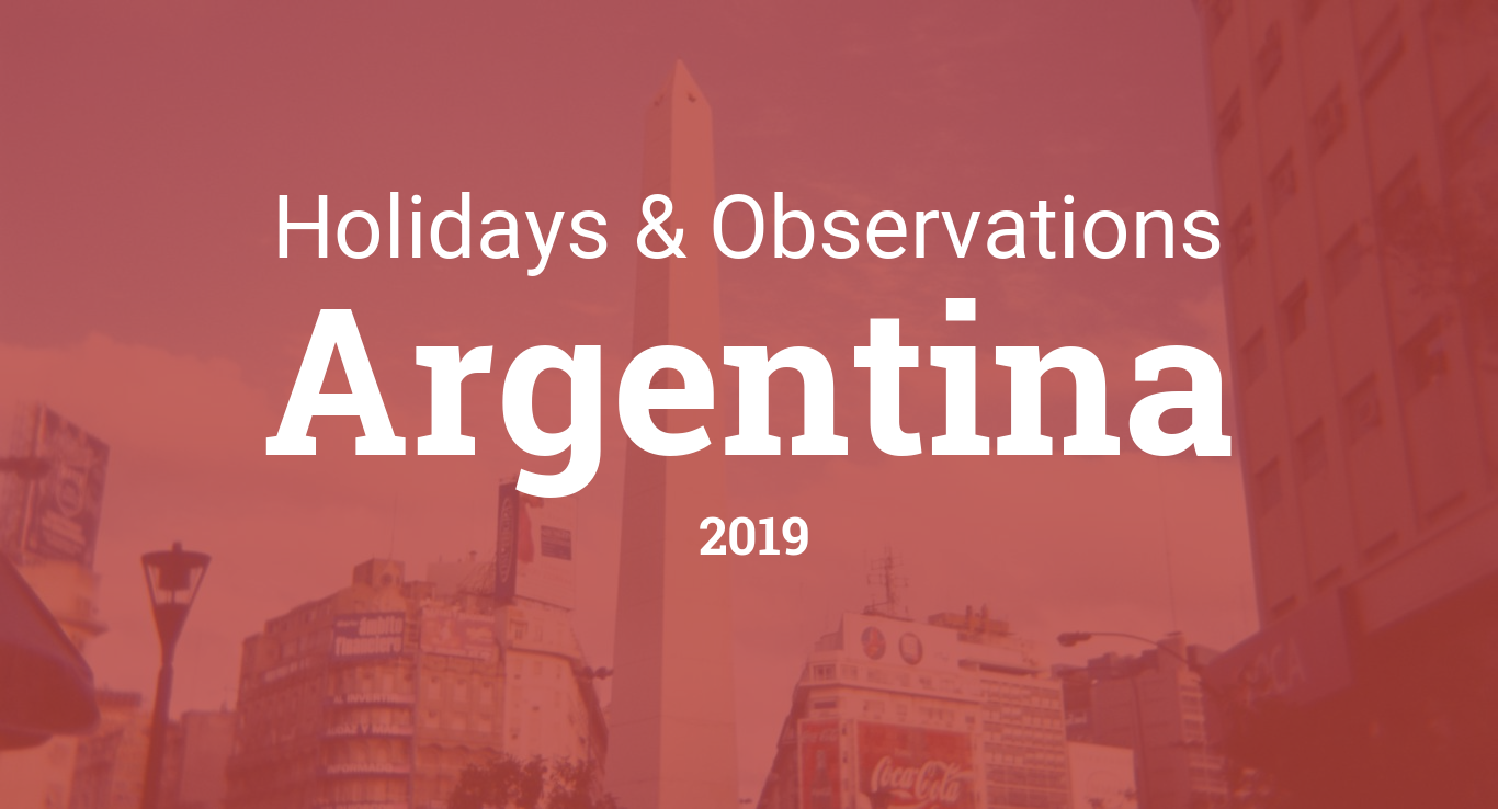 Holidays and observances in Argentina in 2019