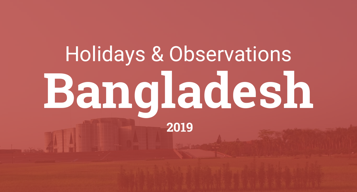Holidays and observances in Bangladesh in 2019