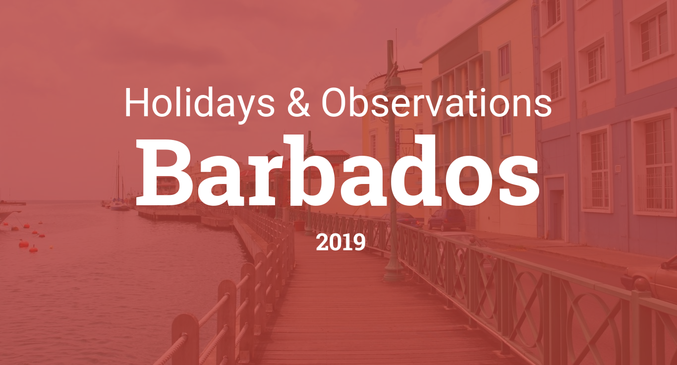 Holidays and observances in Barbados in 2019