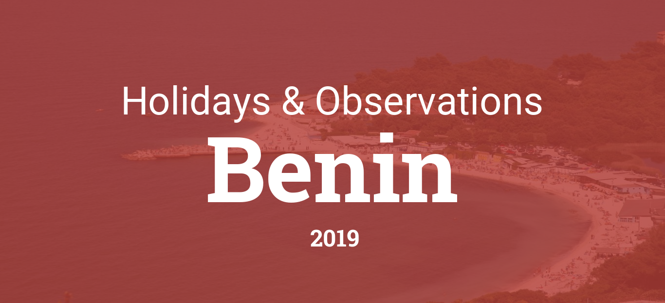 Holidays and observances in Benin in 2019