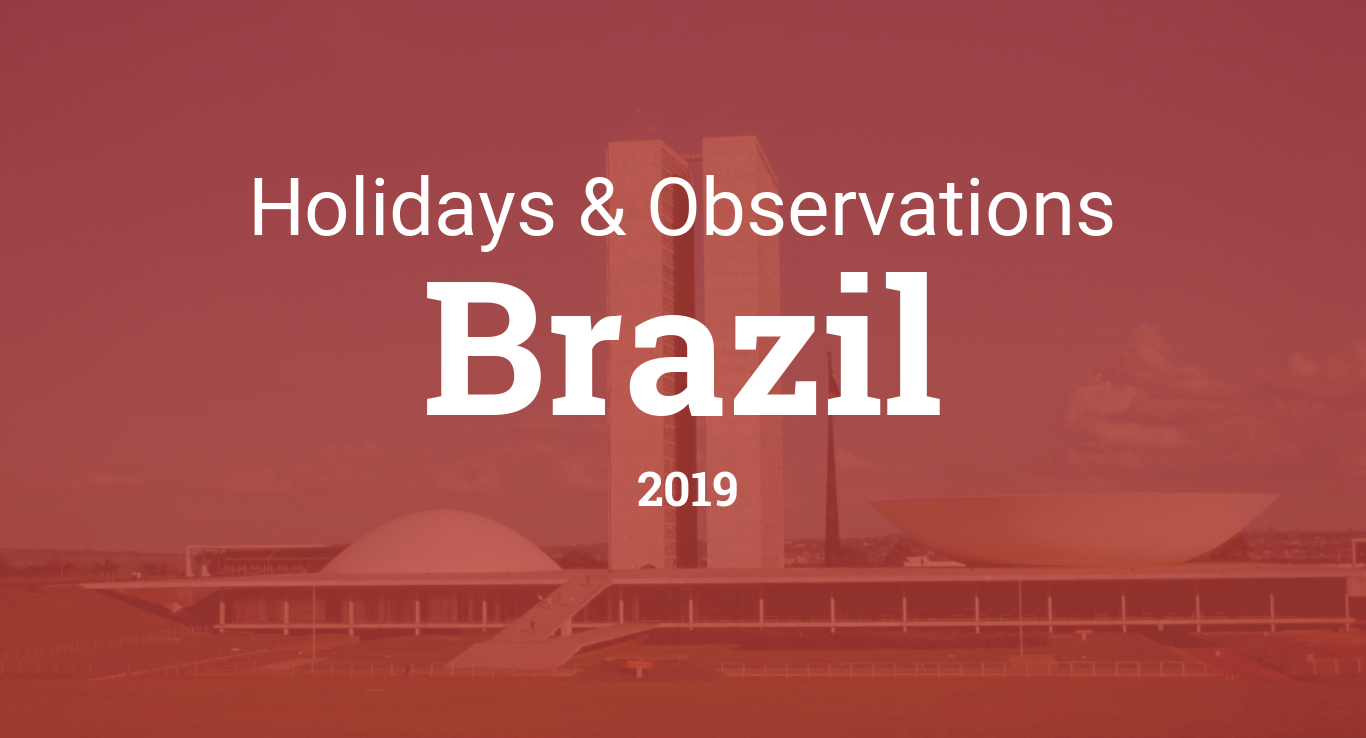 Holidays and observances in Brazil in 2019