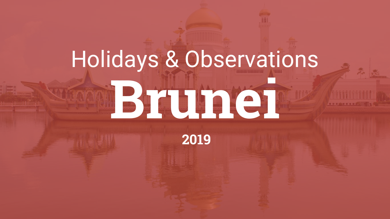 Holidays and observances in Brunei in 2019