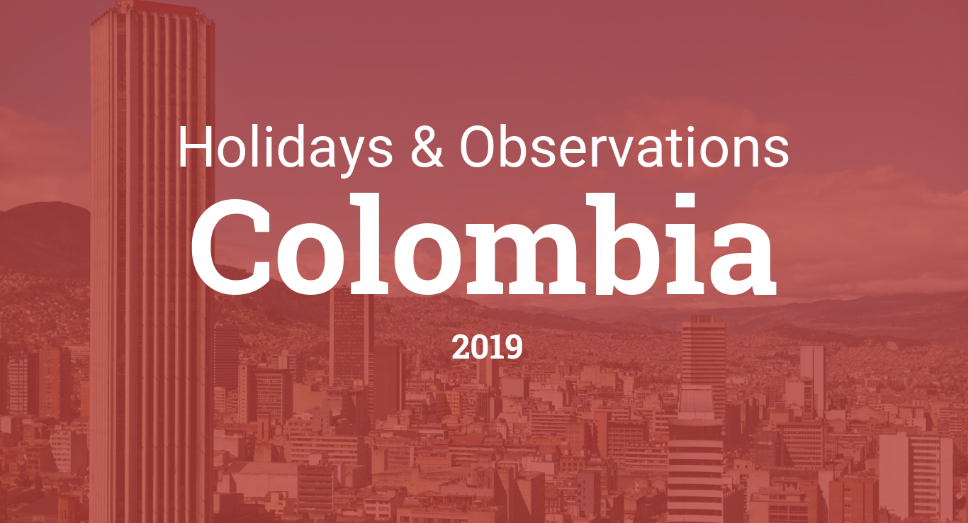 Holidays and observances in Colombia in 2019
