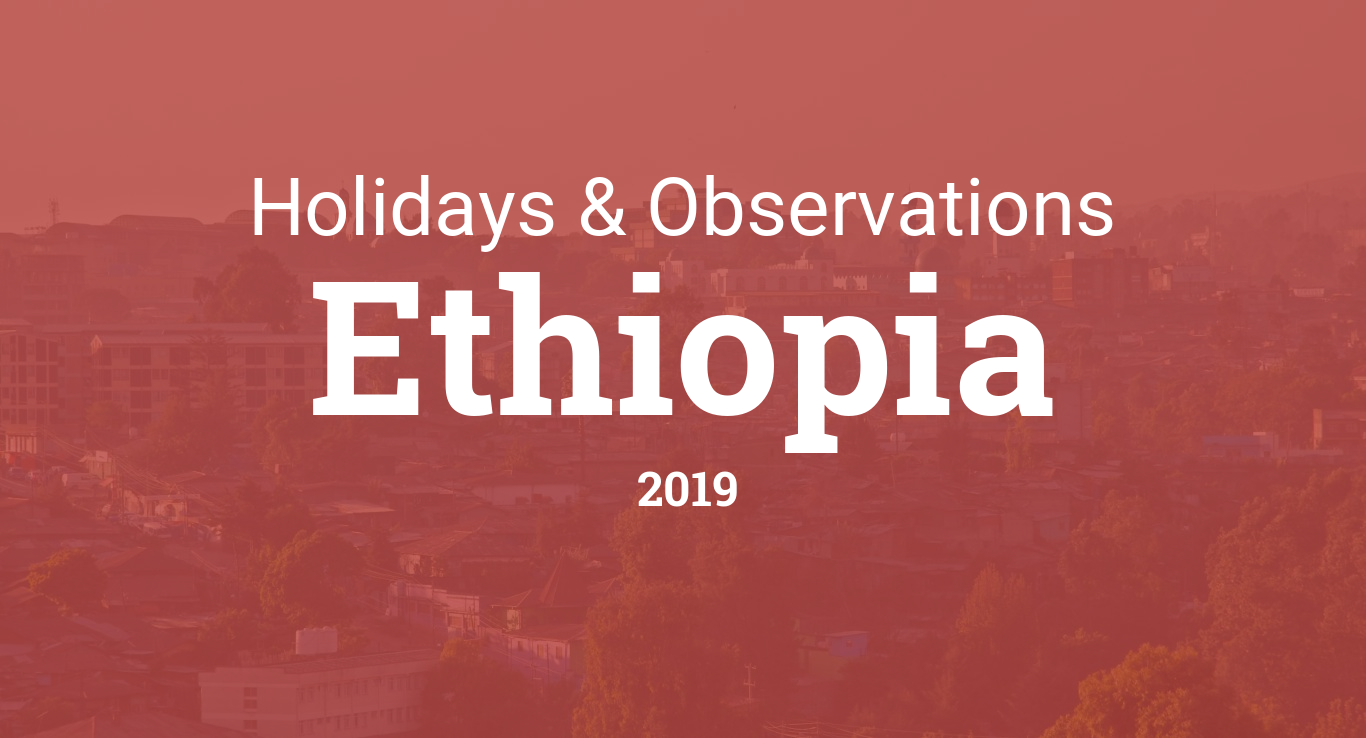Holidays and observances in Ethiopia in 2019