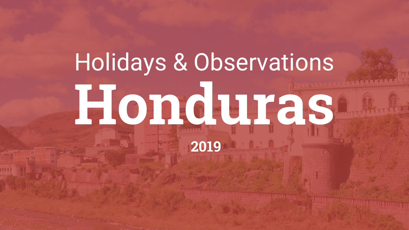 Holidays and observances in Honduras in 2019