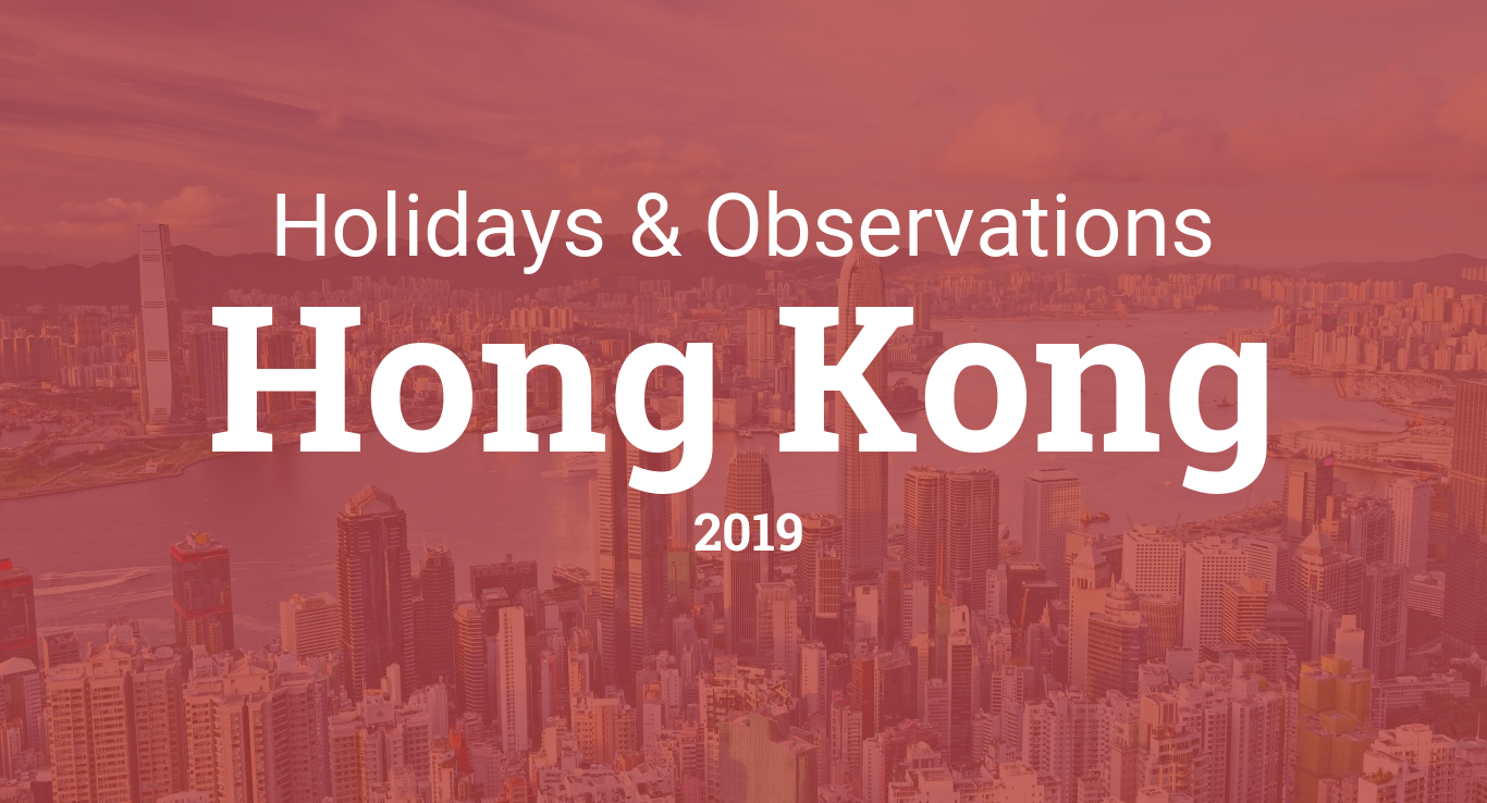 Holidays and observances in Hong Kong in 2019