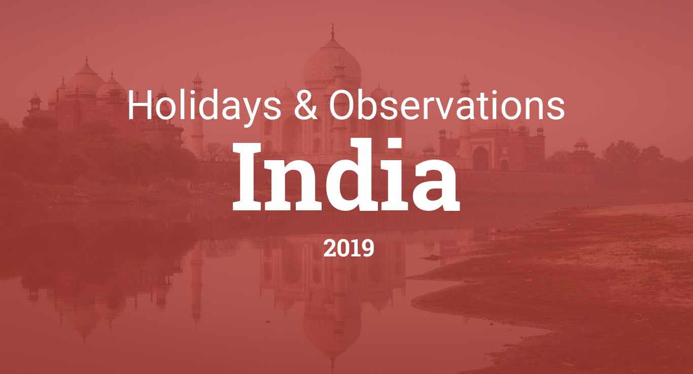 Holidays and observances in India in 2019